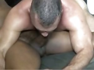 Black Guy Fucks White Daddy