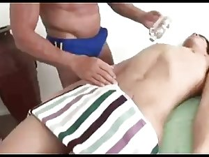 Nolan receives a pleased ending massage