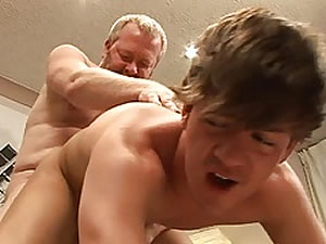 Crazy daddy fucks boy in the ass
