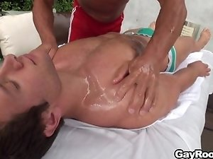 TYLER MASSAGES SPENCER FOX