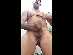 Jerking off and showing my hairy asshole